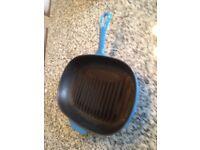 Le Creuset Blue Grill/Griddle Pan
