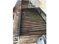Metal fence panels