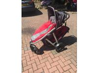 Phil and teds three wheeled buggy holds two children