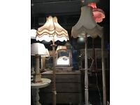 LAMPSHADES LIGHTING STANDARD LAMPS REWIRED PAT TESTED ETC