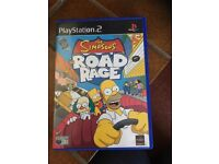 PS2 The Simpsons ROAD RAGE game