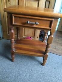 Pine bedside/Occasional Tables pair