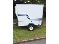 Braked box trailer like new