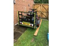 Used, Trailer , 110cc quad & 5helmets with goggles for sale  St Mellons, Cardiff