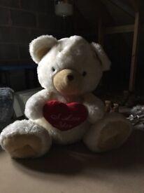 Huge I love you teddy bear! Perfect Xmas present!!