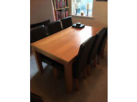 Dining Table + 6 chairs £185