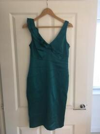 Turquoise Cocktail Dress - Size 10
