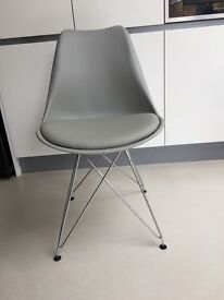 Grey dining chairs x 4