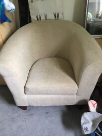 Very good condition M&S bucket style arm chair