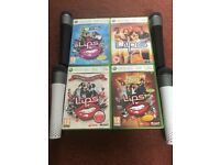 Xbox 360 karaoke games. 4 games and 4 Microphones. *BARGAIN*