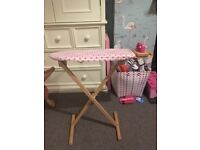 Bigjigs wooden ironing board set