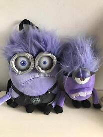 minions backpack and soft toy