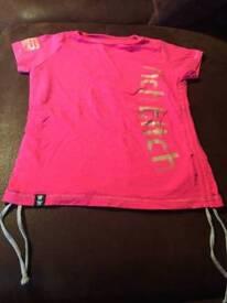 Pink tshirt size 8