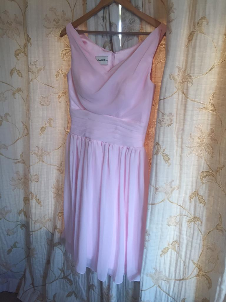 Baby pink bridesmaid dress with sash size 12 | in Newcastle, Tyne ...