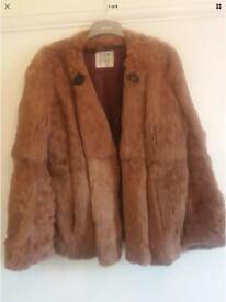 Real mink fur coat new size 14 reduced