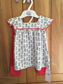 Baby Girl's Tunic and Leggings age 6 to 9 months