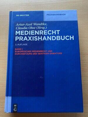 Wandtke Europäisches MEDIENRECHT Praxishandbuch Band 1 G. Eigentum 3.A Handbuch