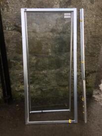 Shower door (silver) + parts