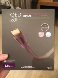 HDMI 5meter cable - gold tip