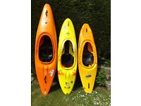 3 Kayaks - will sell seperately, individual prices in ad