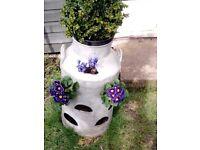 Milk Churn Strawberry Planter / Flower Pot X 2
