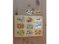 Child / Baby / Toddler Wooden Numbers 123 Puzzle, Very Good Used Condition