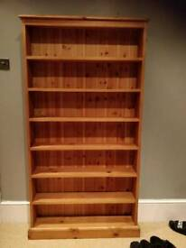 Waxed pine Media shelf (Dvd/cd/games)
