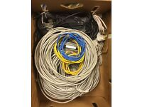 ASSORTED NETWORK & TELEPHONE CABLES