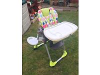 CHICCO POLLY HIGH CHAIR IN VERY GOOD CONDITION