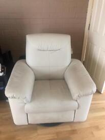 3 single sofas and pouffe