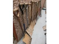 garden tools : shovels,spades, forks, bowsaw, lopper and hand rotavator £3 each