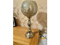 Gold mosaic table lamp