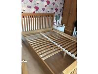 Kingsize pine wood bed frame