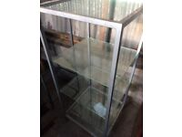 Glass and steeel display cabinets 4 shelf