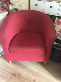 Red m&s tub chair