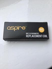 Aspire bvc replacement coils vape 1.8ohms x5