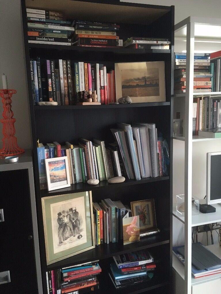 IKEA Billy Bookshelf Black Brown Good Condition 15