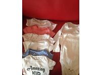 Bundle of baby boy clothings 0-6 months