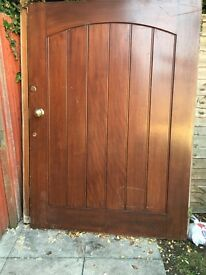 Lovely solid oak door and frame