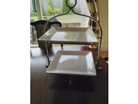 Cake stand (2 tier)