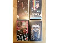 Collection of 4 Micheal Jackson VHS tapes, Genuine Merchandise.