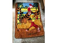 Disney winnie the pooh piglet and tigger toddler large blanket thick fleece warm cosy mothercare