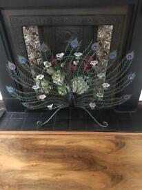 Decorative ornate Peacock with tea candles only £30