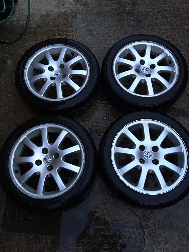205 45 16 alloys for peugeot 206 (cc gti)with tyres 4x 108 | in