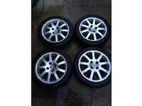205 45 16 Alloys for Peugeot with tyres 4x 108
