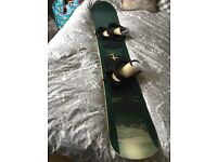 Fanatic 'pope' snowboard with bindings