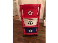 Football kids storage unit ( blue, white as red )