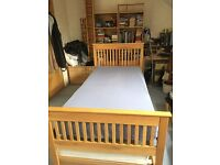 John Lewis solid oak bed