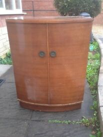 Bow fronted Record cabinet