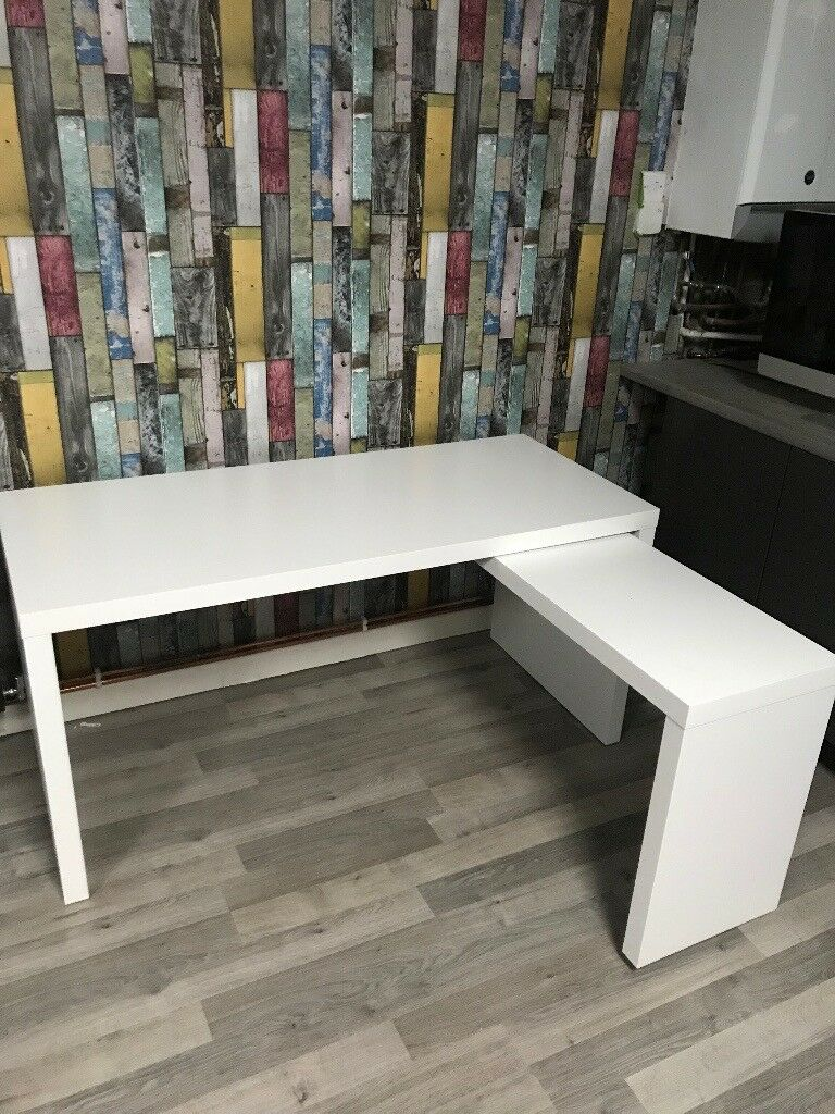 Ikea Malm Desk White With Desk Tidy Topper In Dudley West Midlands Gumtree
